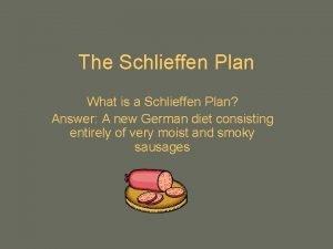 The Schlieffen Plan What is a Schlieffen Plan