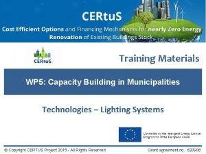 Training Materials WP 5 Capacity Building in Municipalities