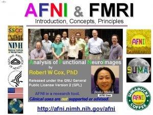 1 AFNI FMRI Introduction Concepts Principles http afni