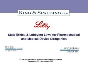 State Ethics Lobbying Laws for Pharmaceutical and Medical