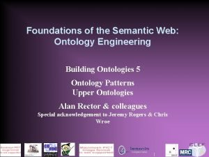 Foundations of the Semantic Web Ontology Engineering Building