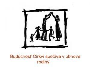 Budcnos Cirkvi spova v obnove rodiny Organizan npl