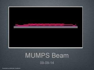 MUMPS Beam 09 09 14 Generated by Intelli