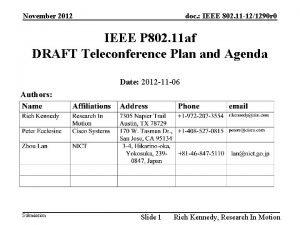doc IEEE 802 11 121290 r 0 November