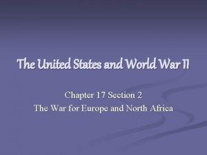 The United States and World War II Chapter