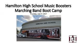 Hamilton High School Music Boosters Marching Band Boot