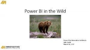 Power BI in the Wild Power BI at