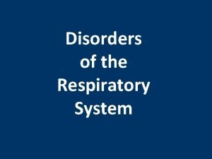 Disorders of the Respiratory System Lung Cancer Lung