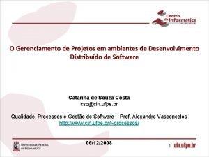 O Gerenciamento de Projetos em ambientes de Desenvolvimento
