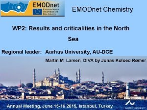 EMODnet Chemistry WP 2 Results and criticalities in