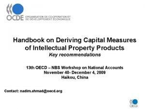 Handbook on Deriving Capital Measures of Intellectual Property