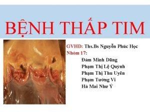 BNH THP TIM GVHD Ths Bs Nguyn Phc