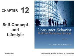 CHAPTER 12 SelfConcept and Lifestyle Mc GrawHillIrwin Copyright