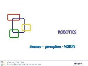 ROBOTICS Sensors perception VISION TEMPUS IV Project 158644