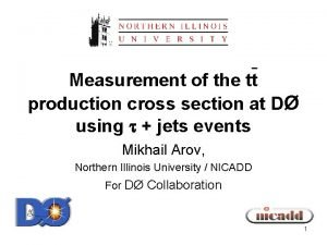 Measurement of the tt production cross section at