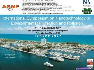 Asia Pacific Nanotechnology Forum Dr Shinichi Kamel Research