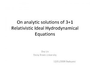 On analytic solutions of 31 Relativistic Ideal Hydrodynamical