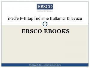 i Pade EKitap ndirme Kullanc Klavuzu EBSCO EBOOKS