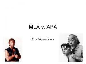 MLA v APA The Showdown Which style MLA