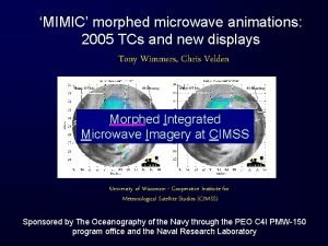 MIMIC morphed microwave animations 2005 TCs and new