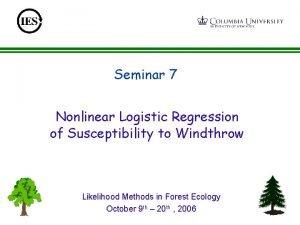 Seminar 7 Nonlinear Logistic Regression of Susceptibility to