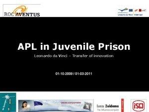 APL in Juvenile Prison Leonardo da Vinci Transfer