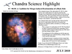 Chandra Science Highlight 4 C 00 58 A