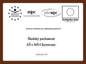 Modern vzdelvanie pre vedomostn spolonos kolsk parlament Z
