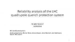 Reliability analysis of the LHC quadrupole quench protection
