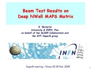 Beam Test Results on Deep NWell MAPS Matrix