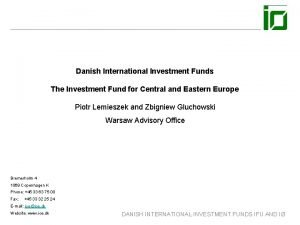 Danish International Investment Funds The Investment Fund for