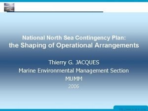 MUMM Management Unit of the North Sea Mathematical