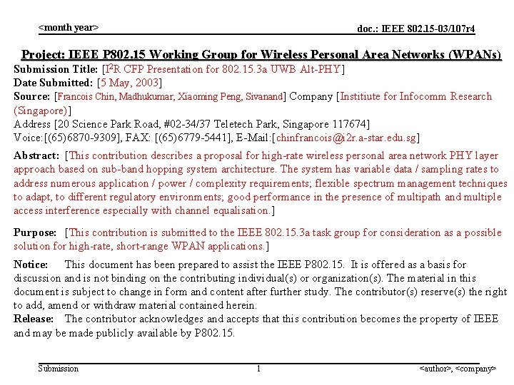 month year doc IEEE 802 15 03107 r