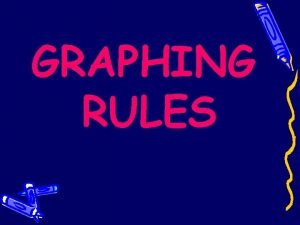 GRAPHING RULES GRAPHING RULES The purposes of creating
