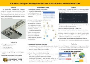 Precision Lab Layout Redesign and Process Improvement in