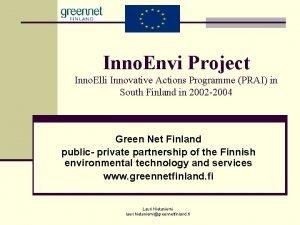 Inno Envi Project Inno Elli Innovative Actions Programme