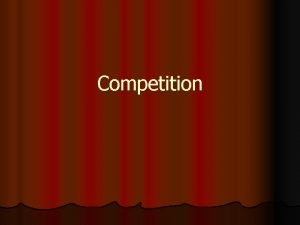 Competition Is Competition l A powerful motivational strategy