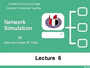 Al Mustafa University College Computer Technology Eng Dep
