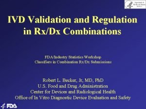 Department of Health and Human Services IVD Validation