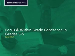 Focus Within Grade Coherence in Grades 3 5