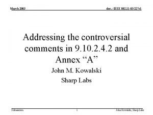 March 2003 doc IEEE 802 11 03227 r