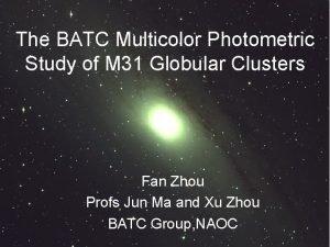 The BATC Multicolor Photometric Study of M 31