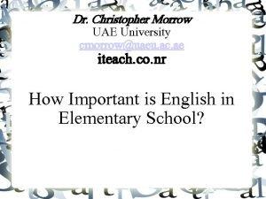 Dr Christopher Morrow UAE University cmorrowuaeu ac ae