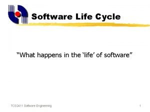 Software Life Cycle What happens in the life