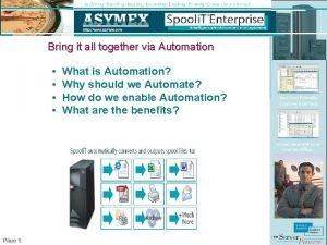 Bring it all together via Automation Page 1