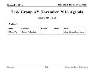 doc IEEE 802 11 161288 r 1 November