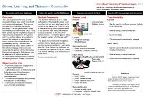 Games Learning and Classroom Community Joe Ervin Assistant