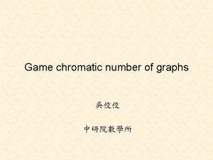 Game chromatic number of graphs Two players Alice