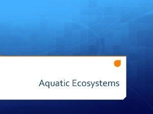 Aquatic Ecosystems Date 0906 Topic Aquatic Ecosystems Learning