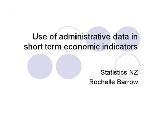Use of administrative data in short term economic
